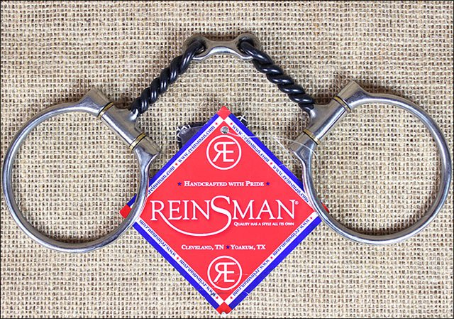 REINSMAN OFFSET DEE 3/8 in. TWISTED DOG BONE HORSE SNAFFLE BITS