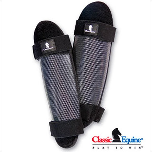 CLASSIC EQUINE HORSE TACK LIGHT WEIGHT SLIM DESIGN KNEES SHIN GUARDS