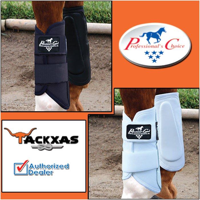 LARGE BLACK WHITE PROFESSIONAL CHOICE VTECH BALLISTIC PROTECTION HORSE LEG BOOT