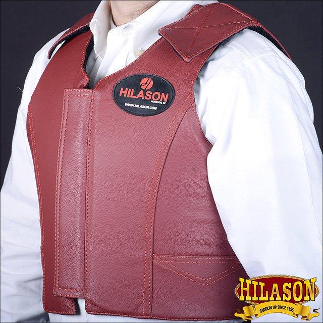 PV111-F HILASON LEATHER BAREBACK PRO RODEO BULL RIDING PROTECTIVE VEST MEDIUM