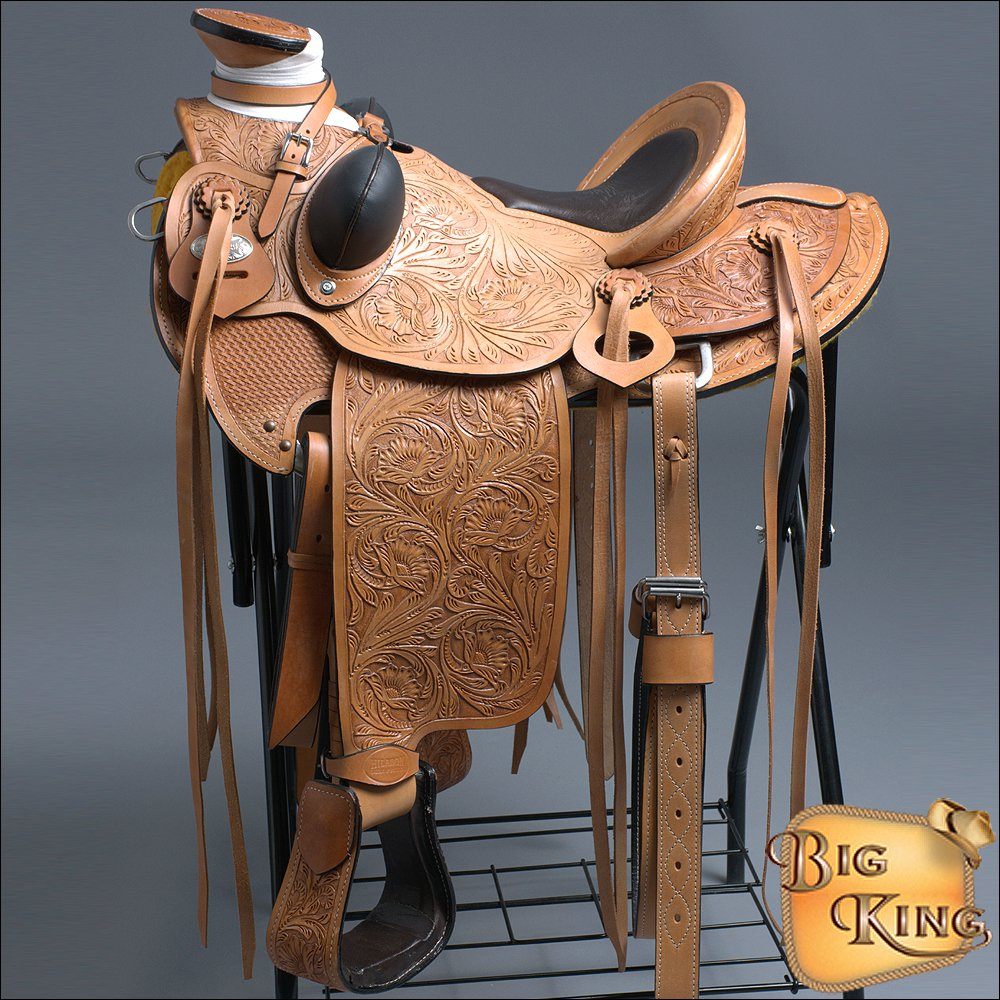 HILASON BIG KING SERIES WESTERN WADE RANCH ROPING COWBOY TRAIL HORSE SADDLE