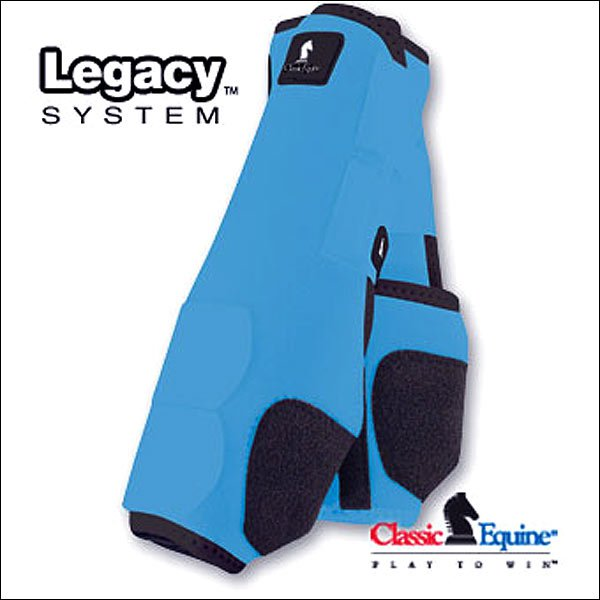 MEDIUM TURQUOISE CLASSIC EQUINE LEGACY SYSTEM HORSE FRONT LEG SPORT BOOT PAIR