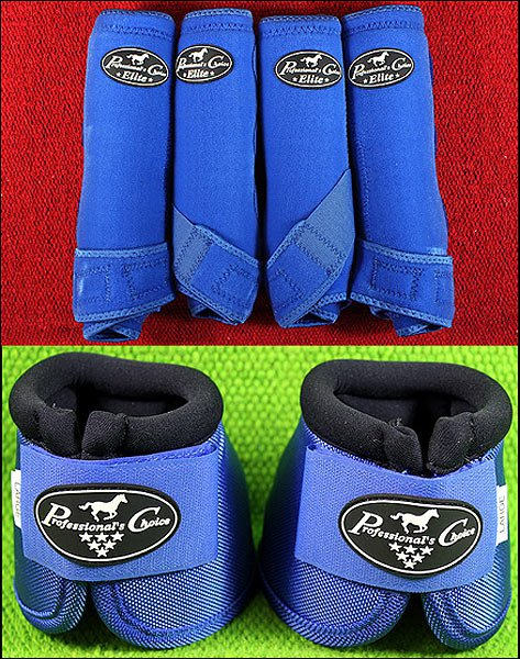 ROYAL LARGE PROFESSIONAL CHOICE SPORTS MEDICINE HORSE BOOTS BELL VENTECH ELITE