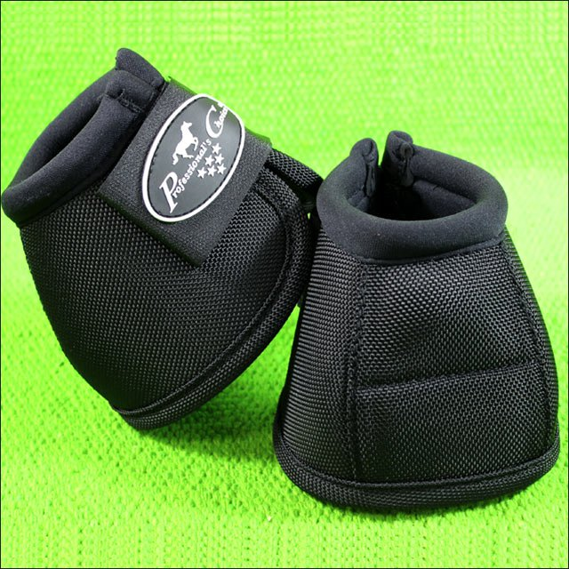 BLACK LARGE PROFESSIONAL CHOICE TACK BALLISTIC OVERREACH HORSE BELL BOOT