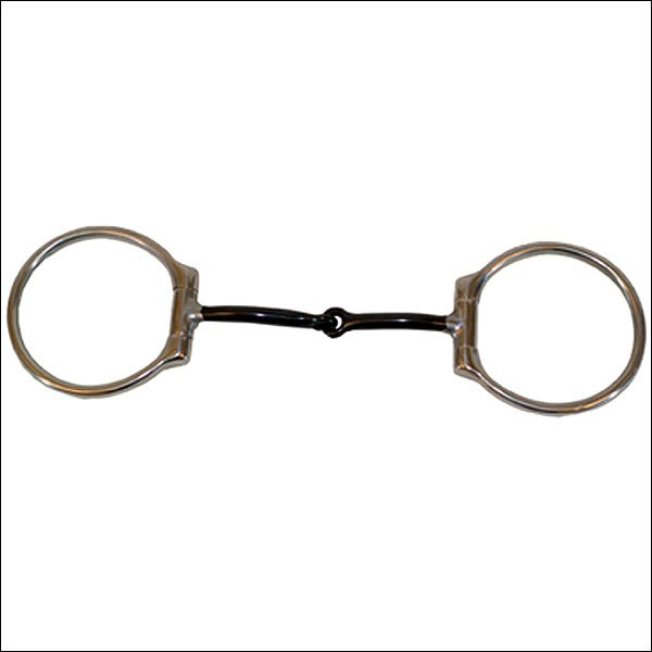 PARTRADE STAINLESS STEEL LARGE WESTERN DEE RING SNAFFLE HORSE BIT