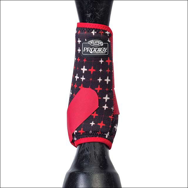 LARGE WEAVER PRODIGY ATHLETIC HORSE LEG NEOPRENE BOOTS TWO PACK RED CROSSES