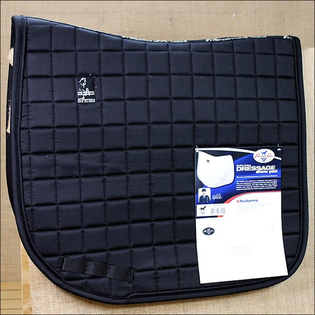 BLACK PROFESSIONAL CHOICE STEFFEN PETERS DRESSAGE SHOW HORSE SADDLE COTTON PAD