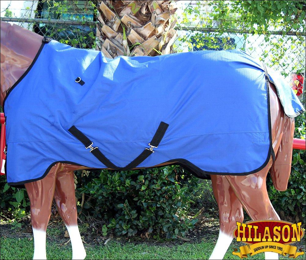 HILASON 600D RIPSTOP WATERPROOF POLY TURNOUT HORSE WINTER SHEET BLUE