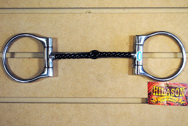 NEW HILASON STAINLESS STEEL DEE BIT 5 IN. SWEET IRON TWISTED WIRE SNAFFLE