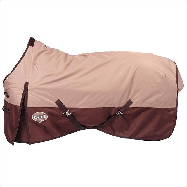 75 inch TOUGH1 TAN  600D WATERPROOF POLY TURNOUT WINTER HORSE BLANKET