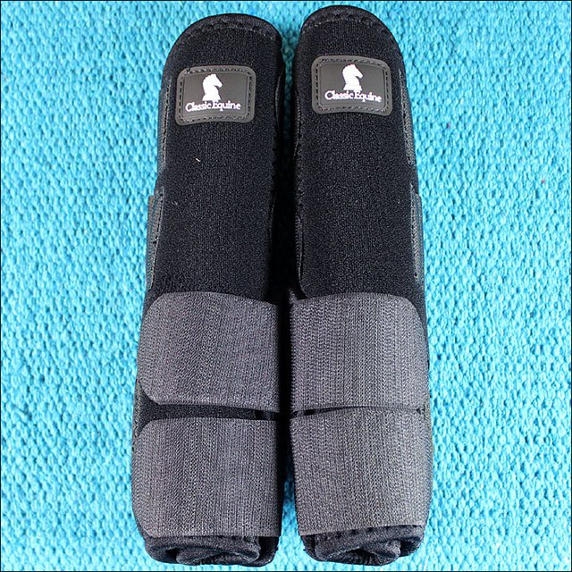 LARGE BLACK CLASSIC EQUINE LEGACY SYSTEM HORSE FRONT SPORT BOOT PAIR