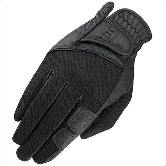 12 SIZE HERITAGE X-COUNTRY GLOVE HORSE RIDING LEATHER STRETCHABLE BLACK
