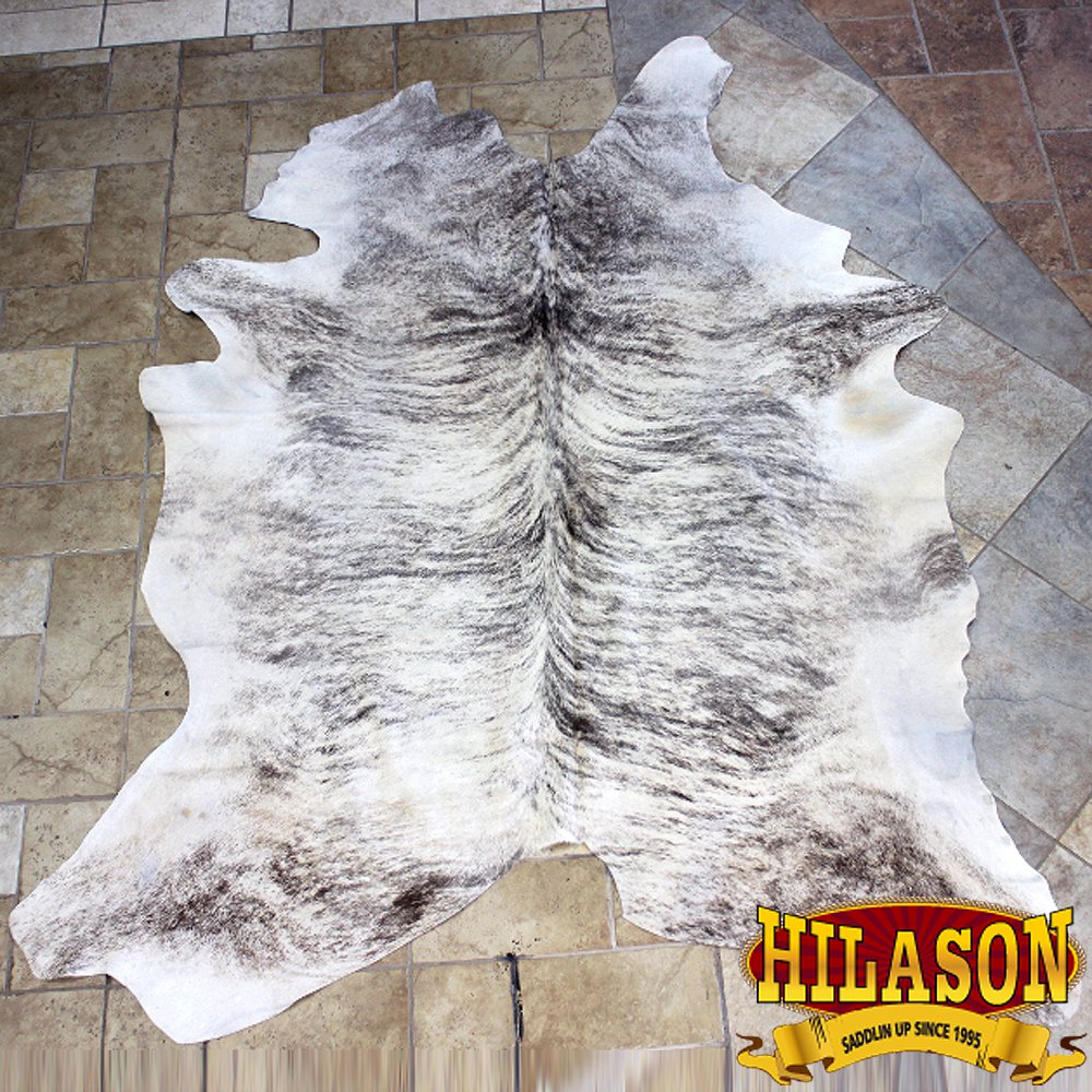 H157F HILASON HAIR ON LEATHER BRAZILIAN COWHIDE SKIN RUG CARPET EXOTIC TRI COLOR