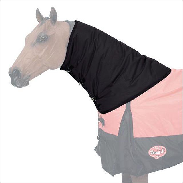 MEDIUM BLACK TOUGH-1 600D WATERPROOF POLY WINTER HORSE NECK COVER