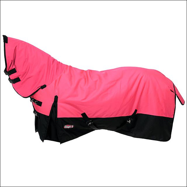 75 inch PINK TOUGH-1 600D WATERPROOF POLY FULL NECK TURNOUT HORSE BLANKET
