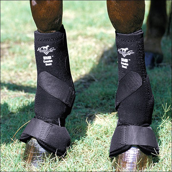 MEDIUM PROFESSIONAL CHOICE SMB HORSE LEG SPORTS MEDICINE COMBO BOOTS BLACK