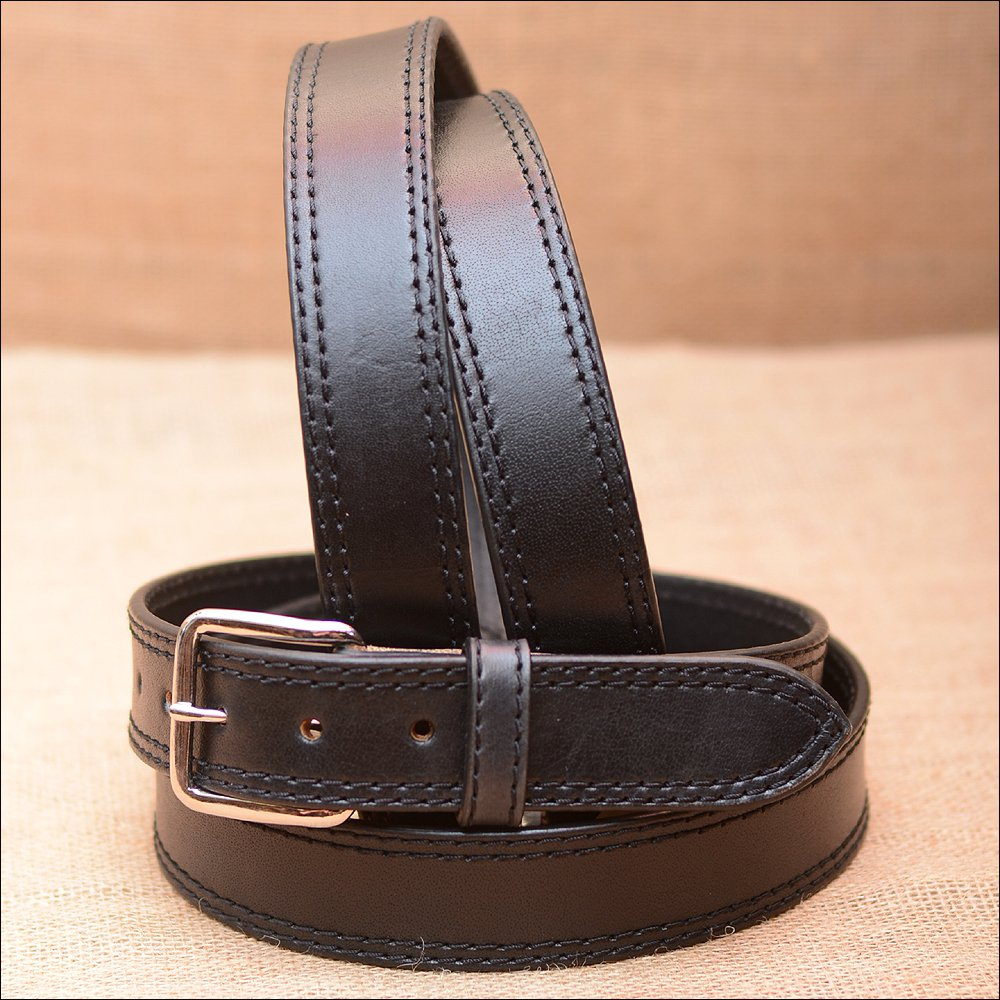 "54"" HILASON HAND MADE HEAVY DUTY BUFFALO HIDE LEATHER STICHED BELT"