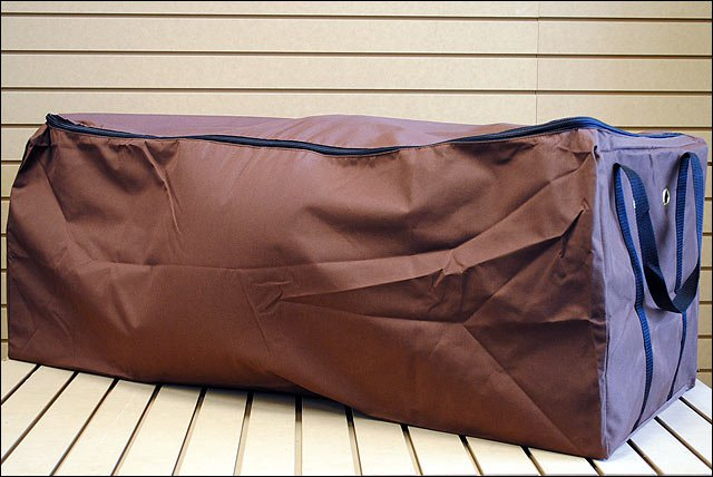 BROWN HILASON 600D POLY HAY BALE CARRYING BAG WITH BRASS STEER HEAD GROMMENTS