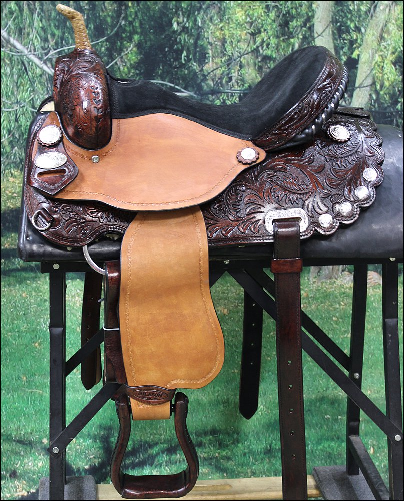 TT316AM2 HILASON FLEX-TREE BARREL RACING TRAIL RIDING WESTERN SADDLE 14 15 16 17