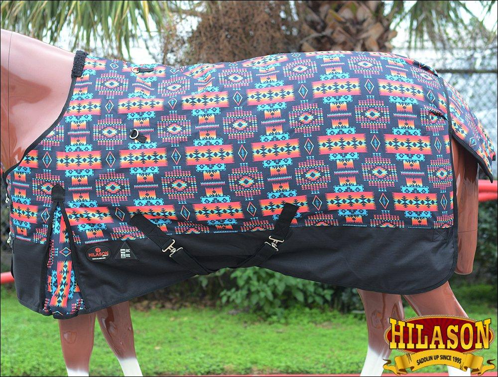 "66"" HILASON 1200D WATERPROOF HORSE WINTER SHEET AZTEC TRIBAL SOUTH WEST"
