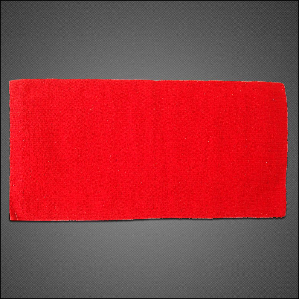 HILASON WESTERN ACRYLIC WOOL SADDLE BLANKET HORSE RODEO SOLID COLOR RED
