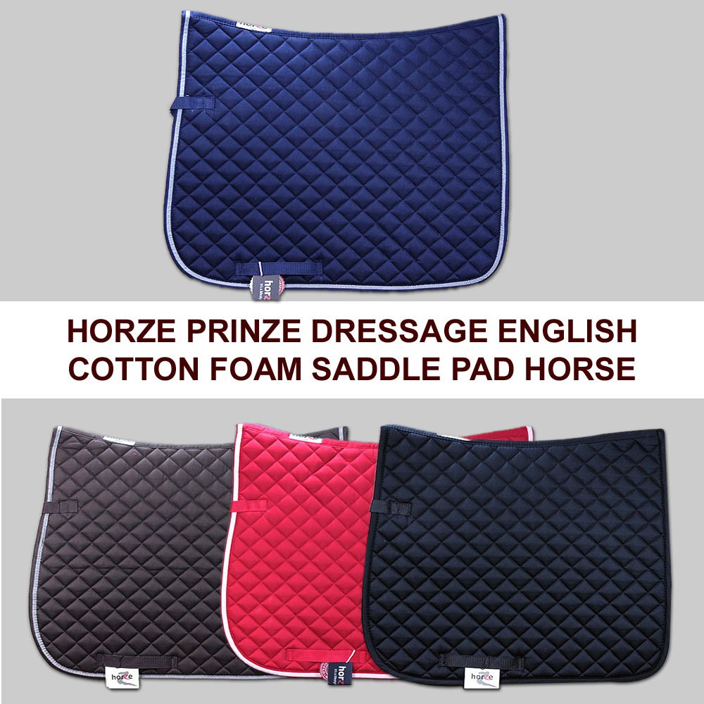 HORZE SUPREME PRINZE DRESSAGE ENGLISH COTTON FOAM COLORFUL HORSE SADDLE PAD