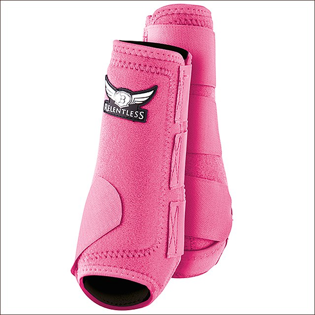 LARGE TREVOR BRAZILE RELENTLESS ALL AROUND HORSE SPORT HIND REAR BOOTS PAIR PINK