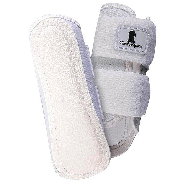 MEDIUM CLASSIC EQUINE AIRWAVE SPLINT BREATHABLE HORSE LEG BOOTS PAIR WHITE