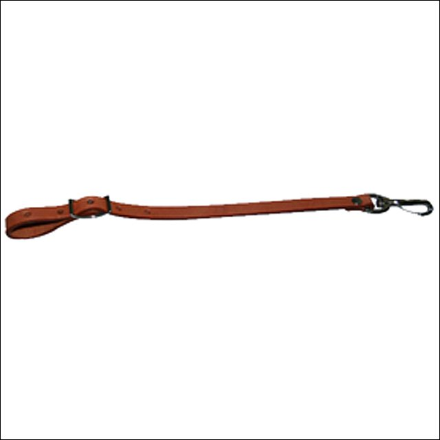HILASON WESTERN TACK HORSE CHESTNUT LEATHER STRAP CINCH CONNECTOR W/ SNAP