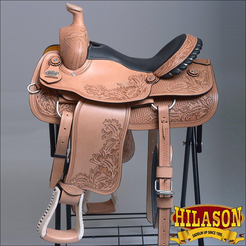 "BH65F HILASON ""BIG KING Series"" WESTERN WADE RANCH ROPING COWBOY TRAIL SADDLE 16"