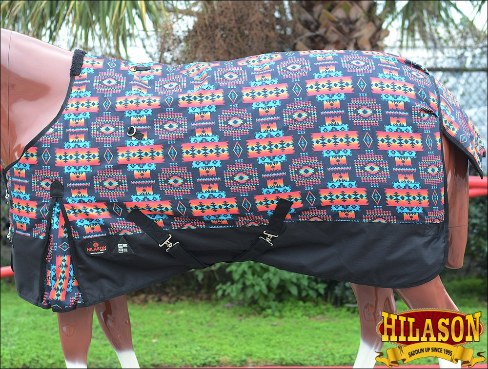 "69"" HILASON 1200D WATERPROOF HORSE WINTER SHEET AZTEC TRIBAL SOUTH WEST"