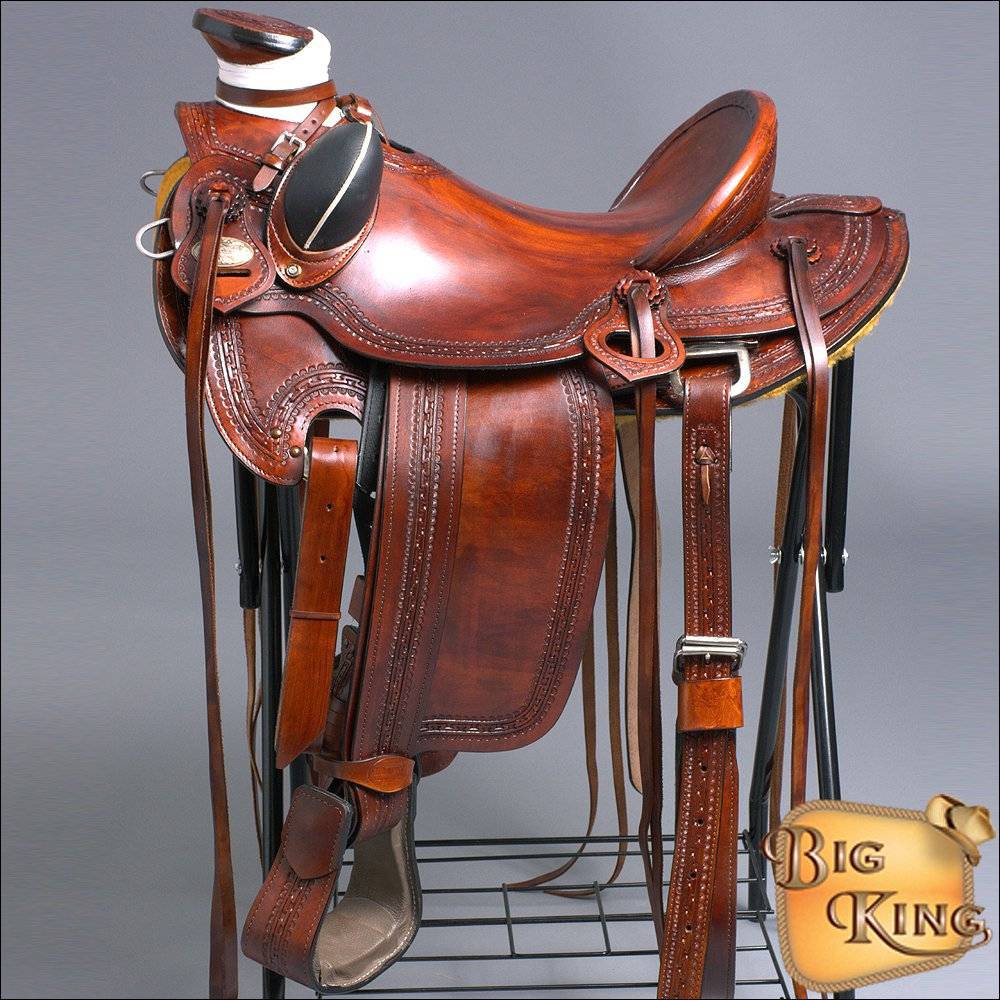 WD60M-F HILASON BIG KING SERIES WESTERN WADE RANCH ROPING COWBOY TRAIL SADDLE 16
