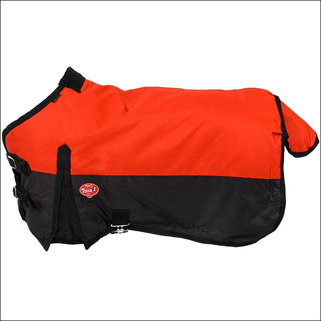 48 inch RED TOUGH-1 600D WATERPROOF POLY MINIATURE TURNOUT HORSE BLANKET
