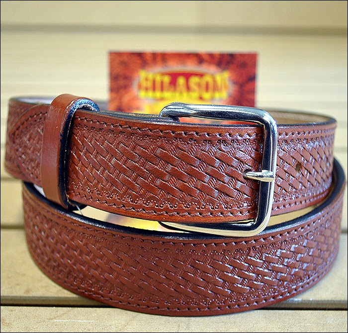 "58"" HILASON HEAVY DUTY HAND MADE BUFFALO HIDE LEATHER STICHED GUN HOLSTER BELT"