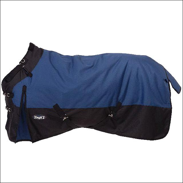 69 inch NAVY TOUGH-1 1200D WATERPROOF POLY TURNOUT BLANKET ADJUST SNUGGIT NECK