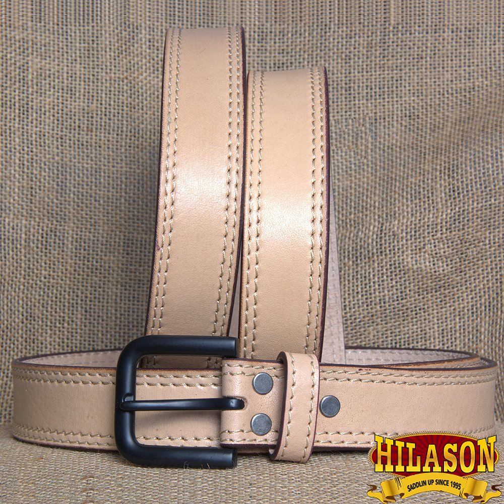 GM101-F HILASON HAND MADE HEAVY DUTY BUFFALO HIDE LEATHER STICHED BELT 40""
