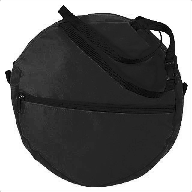 "HILASON 600D POLY ROPE BAG KIDS WITH 1"" QUICK SNAP BLACK"