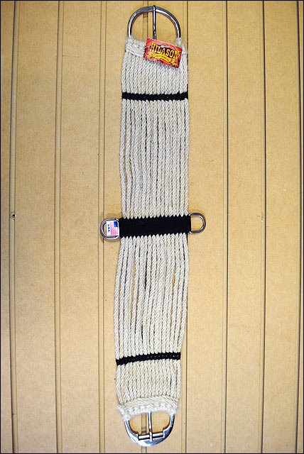 34 in. HILASON 17 STRAND STRAIGHT MOHAIR HORSE CINCH MADE IN THE USA