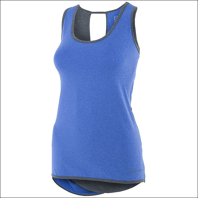 MEDIUM NOBLE OUTFITTTERS LADIES TOP LIL LOVER TANK PERIWINKLE HEATHER