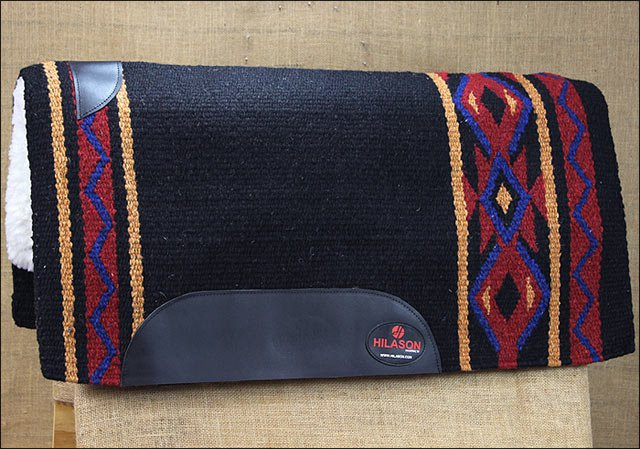 FEP213 MADE IN USA HILASON WESTERN WOOL FELT SADDLE BLANKET PAD ROYAL CRIMSON