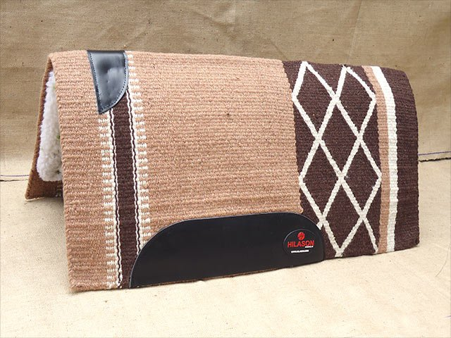 MADE IN USA FE291 HILASON WESTERN SHOW WOOL FELT SADDLE BLANKET PAD BEIGE BROWN
