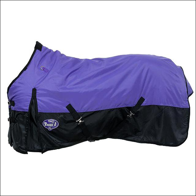 75in. PURPLE TOUGH-1 in 420D WATERPROOF POLY TURNOUT WINTER HORSE BLANKET