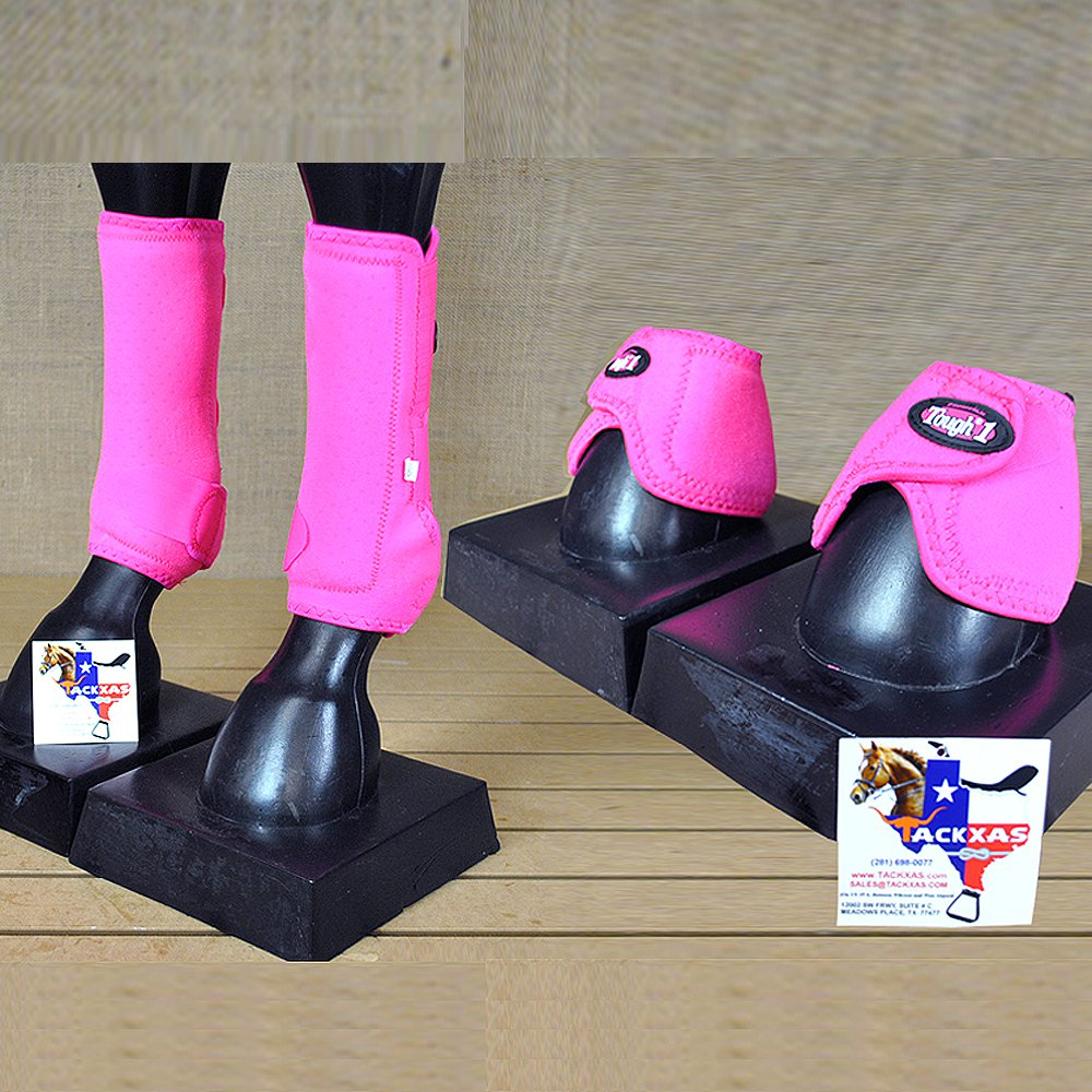 PINK SMALL TOUGH1 FRONT LEG VENTED SPORTS MEDICINE HORSE SPLINT BOOT BELL BOOTS