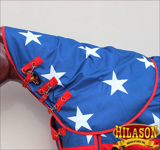 AMERICAN FLAG HILASON 1200D WINTER WATERPROOF POLY TURNOUT HORSE NECK WRAP
