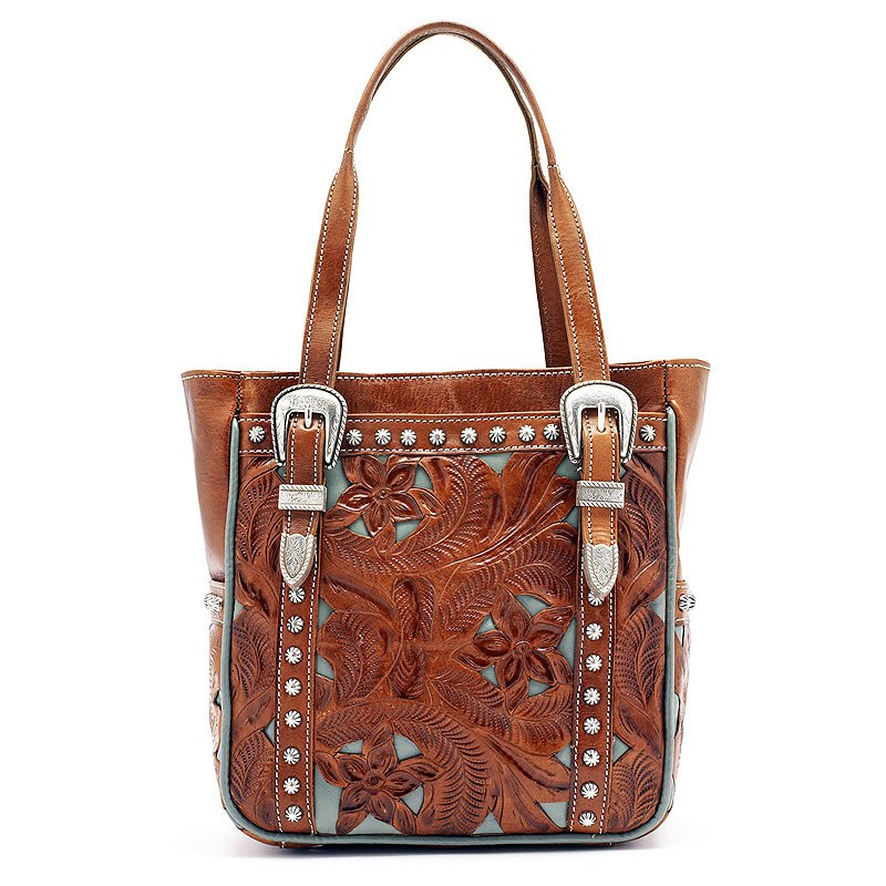 AMERICAN WEST LEATHER EVERYDAY COWGIRL TOTES WOMENS SHOULDER HANDBAG PURSE