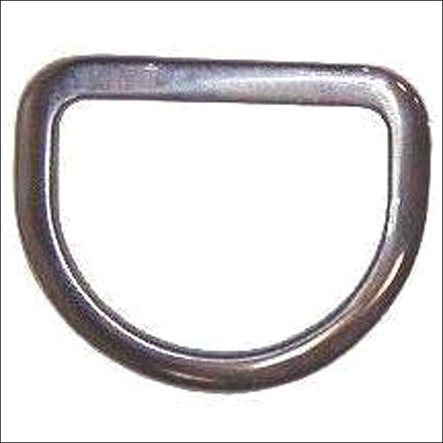 """3"""" HILASON STAINLESS STEEL BEVELED RIGGING DEE HORSE WESTERN TACK"""
