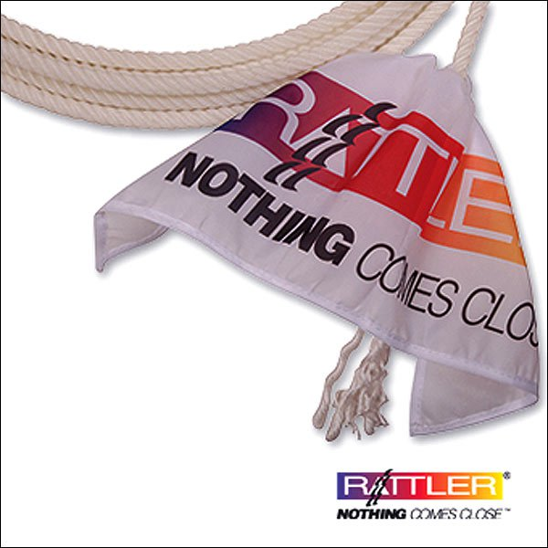 WHITE NEW CLASSIC EQUINE RATTLER BREAKAWAY FLAG ROPERS