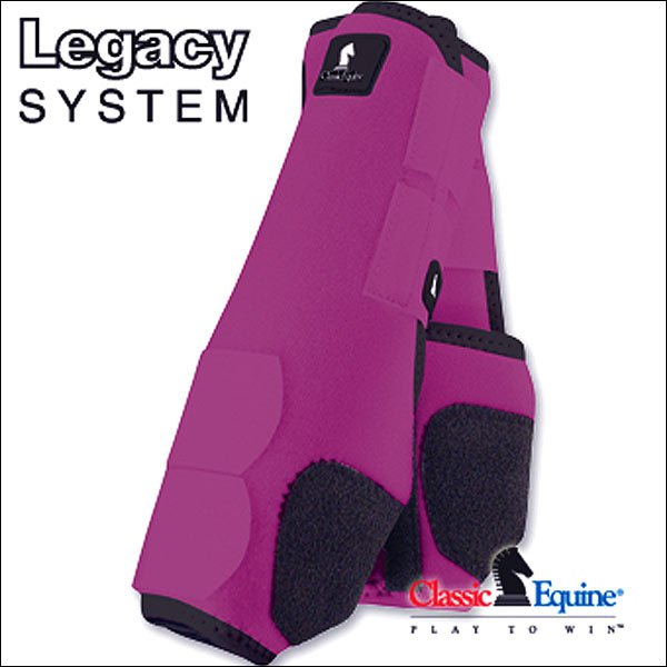 SMALL FUSHIA CLASSIC EQUINE LEGACY SYSTEM HORSE FRONT SPORT BOOT PAIR
