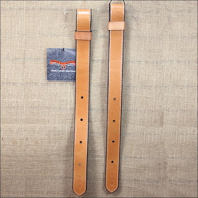 ULTRA LITE CIRCLE Y DOUBLE PLY PLAIN LEATHER HORSE CINCH GIRTH FLANK BILLETS