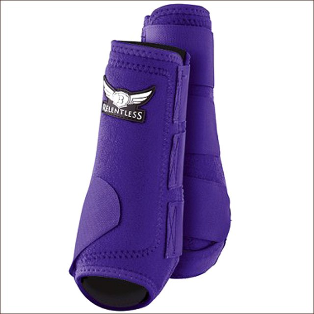 LARGE TREVOR BRAZILE RELENTLESS ALL AROUND HORSE SPORT HIND BOOTS PAIR PURPLE